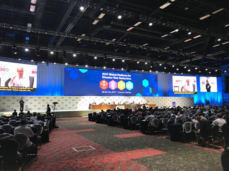 2017年5月、メキシコ・カンクンで開催された「防災グローバル・プラットフォーム」の様子